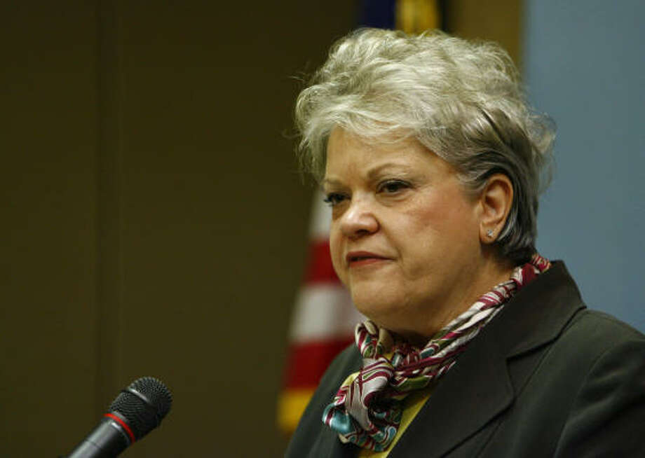 The U.S. Chemical Safety Board Chair Carolyn Merritt comments today in Clear Lake on the released final report on the 2005 explosion at the Texas City BP Plant where 15 were killed. Photo: Steve Ueckert, Chronicle