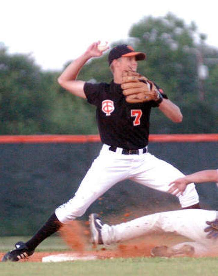 Things have turned for the better for Texas City and second baseman Kyle Myers, who will take on Mesquite Poteet at 4 p.m. Friday in a Class 4A state semifinal at Dell Diamond in Round Rock. Photo: Kirk Sides, FOR THE CHRONICLE
