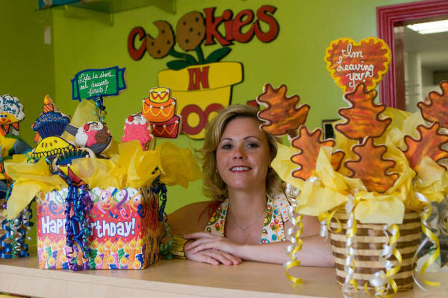 Sam Rayburn graduate Kelly Lawrence opened a Cookies in Bloom franchise at 5184 Buffalo Speedway in West University Place in 2004. For more information, call 713-COOKIES. Photo: R. Clayton McKee, For The Chronicle