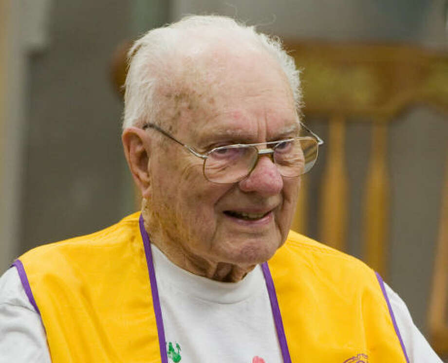 Howard Hicks, 93, the namesake of the Alief Independent School District's Hicks Elementary School, 8520 Hemlock Drive, died at Memorial Hermann Southwest Hospital on Sept. 16. Photo: R. Clayton McKee, For The Chronicle