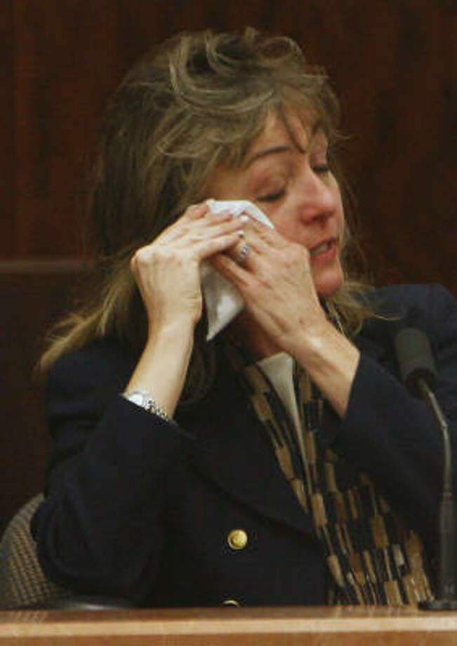 Mary Gipp McNeil testifies against her ex-neighbor. Photo: Kevin Fujii, Chronicle
