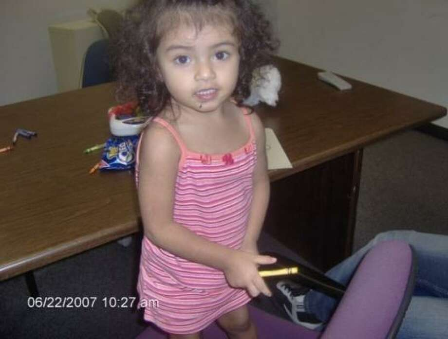 Authorities identified the 2-year-old child as Emily and say she evidently left her family's apartment without anyone realizing it until later. Photo: CPS