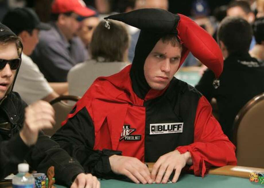 Jeff Madsen hopes the joke's not on him at the World Series of Poker's main event, which has a $10,000 buy-in. Photo: JAE C. HONG, ASSOCIATED PRESS