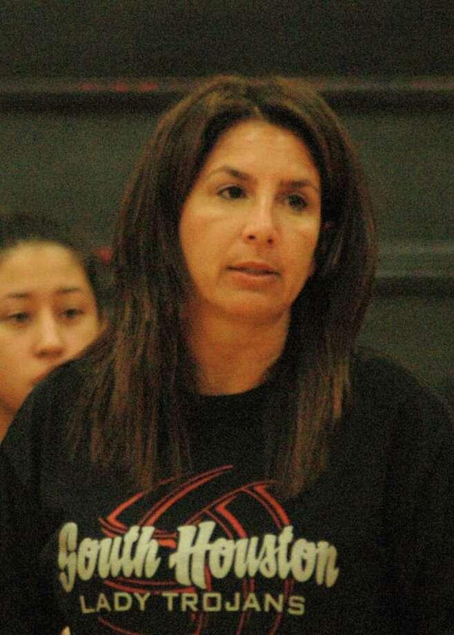 South Houston High School volleyball Head Coach Deana Garza. Photo: George Wong / Freelance