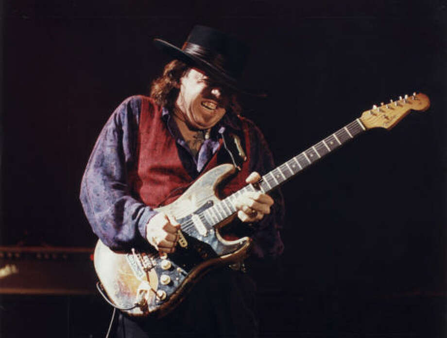 Dallas native Stevie Ray Vaughan tops the 75 essential Texas blues albums list with his 1983 album, Texas Flood. Photo: Chronicle File