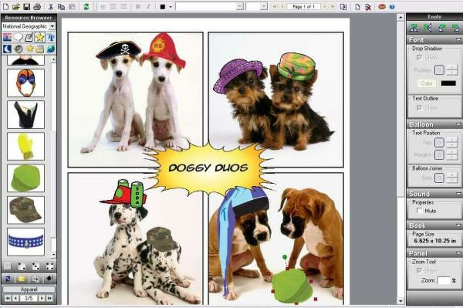 Silly Pets Comic Book Creator brings out the inherent humor in furry friends.