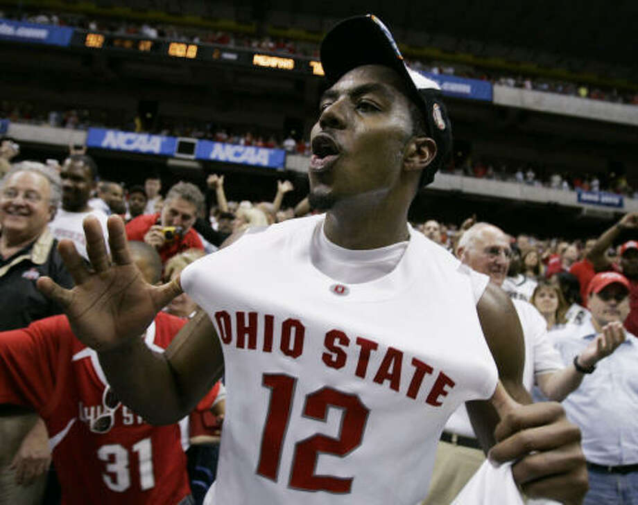 Ohio State's Ron Lewis scored 22 points to help the Buckeyes top Memphis and land in the Final Four. Photo: David J. Phillip, AP