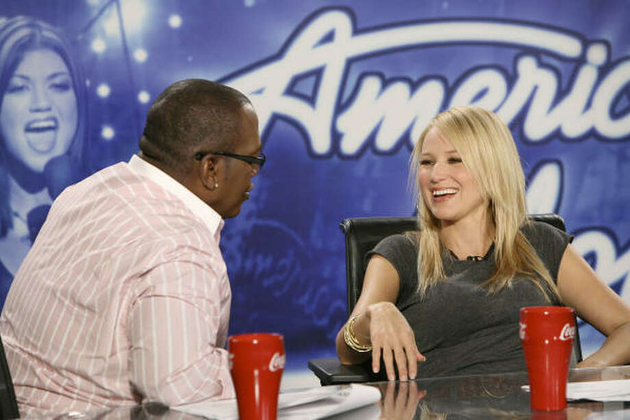 American Idol guest judge Jewel, with regular judge Randy Jackson, had little to say when she appeared on the show. Photo: Fox
