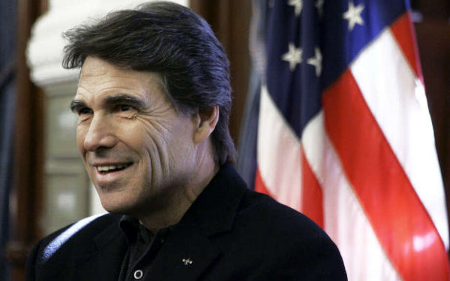 """Every generation of Perrys, back to the 1850s, has died of prostate cancer. I'm going to get it,"" Perry said Thursday, underlining the personal nature of his effort for reporters. Photo: LM Otero, AP"