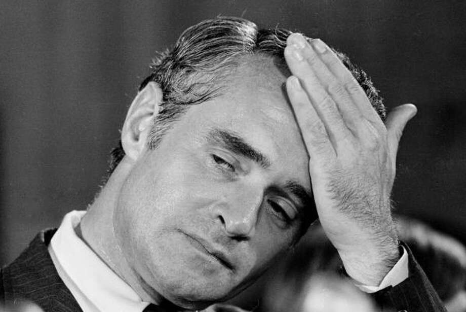 Then-U.S. Sen. Thomas Eagleton stepped aside in 1972 as Sen. George McGovern's vice presidential running mate after it was discovered that Eagleton had been hospitalized for depression. Photo: ASSOCIATED PRESS FILE