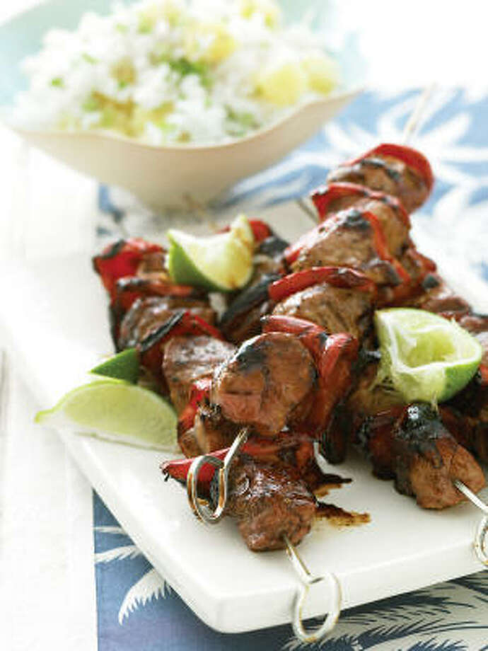 Pacific Pork Kebabs will have diners coming back for seconds. Photo: Marcus Nilsson, Everyday Food