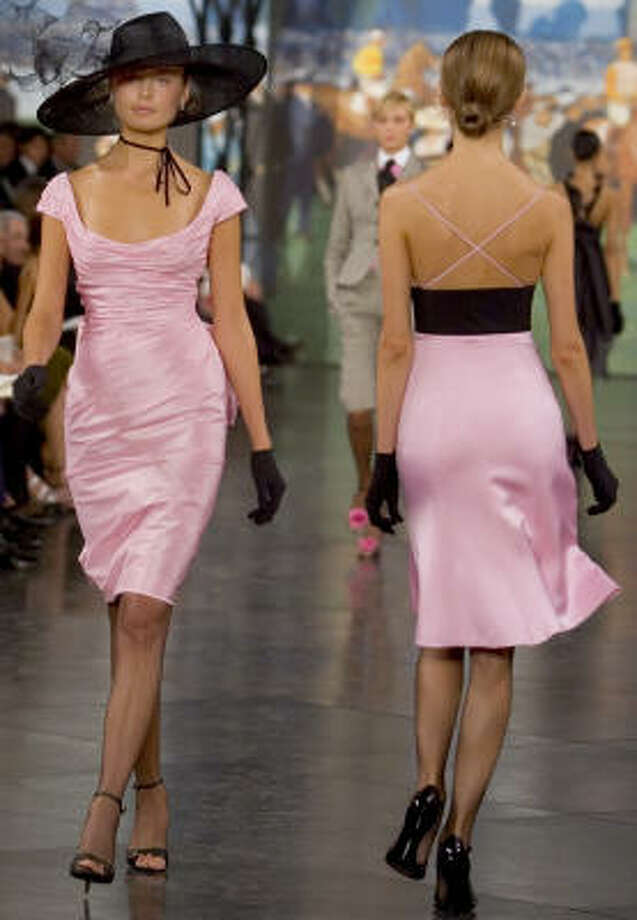 IN THE PINK:Fashion designer Ralph Lauren featured refined looks. Photo: Stephen Chernin, Associated Press