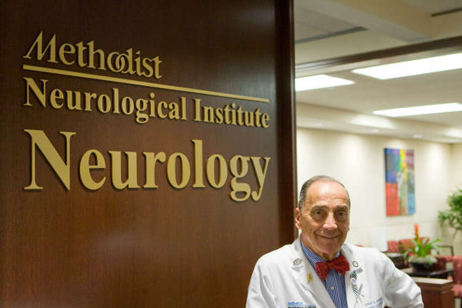 Stanley Appel, MD, Co-Founder of the Methodist Neurological Institute and chairman of the Methodist Hospital Neurology Department, is a recognized expert and researcher on Amyotrophic Lateral Sclerois (ALS), also known as Lou Gehrig's Disease. Photo: R. Clayton McKee, For The Chronicle