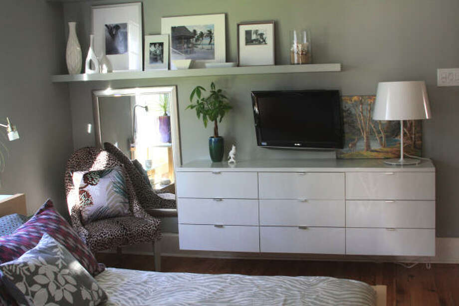 Chase, her husband and father built this floating dresser in the main bedroom. Photo: Christie Chase