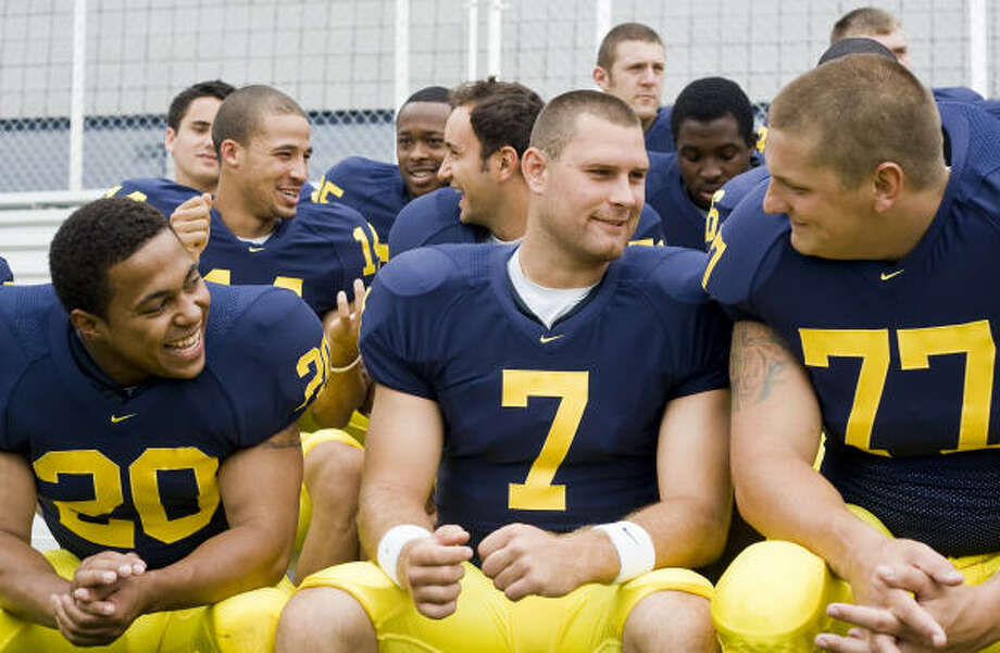 Here are some of the newest TV stars in the Midwest: the Michigan Wolverines. Photo: Tony Ding, AP