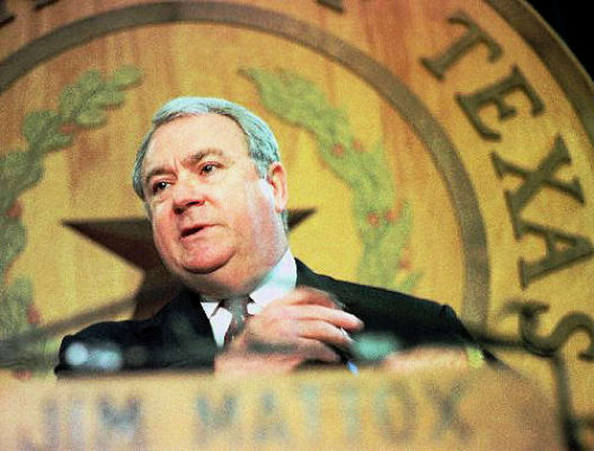 Former Attorney General Jim Mattox was indicted on commercial bribery charges in 1983. He was later acquitted.