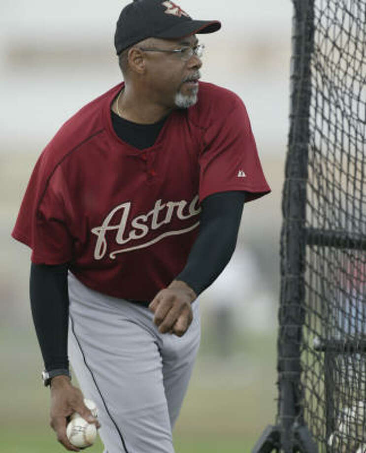 Bench coach Cecil Cooper is looking for a shot at running his own club. Photo: Karen Warren, Chronicle