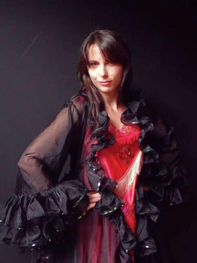 Delmar, NY, resident Vedrana Kalas, in costume, who will play Norina in Hubbard Hall Opera Theater's 2011 production of Donizetti's classic comic opera, Don Pasquale. (Courtesy Hubbard Hall)