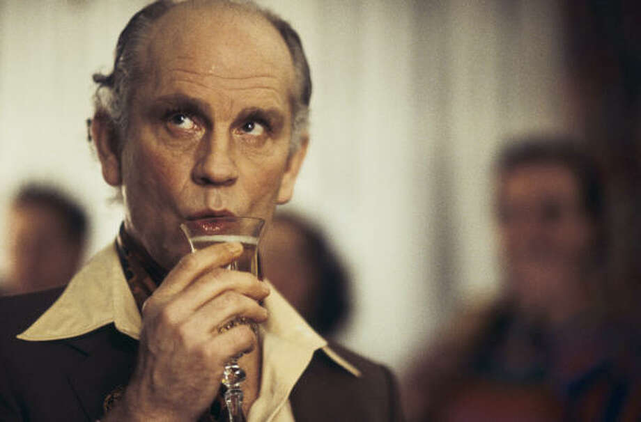 John Malkovich as notorious Stanley Kubrick imposter Alan Conway in Color Me Kubrick. Photo: Magnolia Pictures