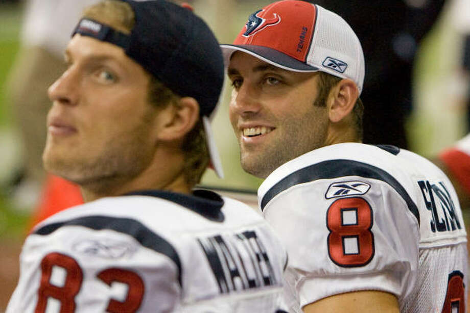 Week 1McClain's ranking:15 | National average: 20 | Record: 0-0 Matt Schaub, right, Kevin Walter and the Texans were high on the radar before the Sept. 7 opener. Photo: Steve Campbell, Chronicle