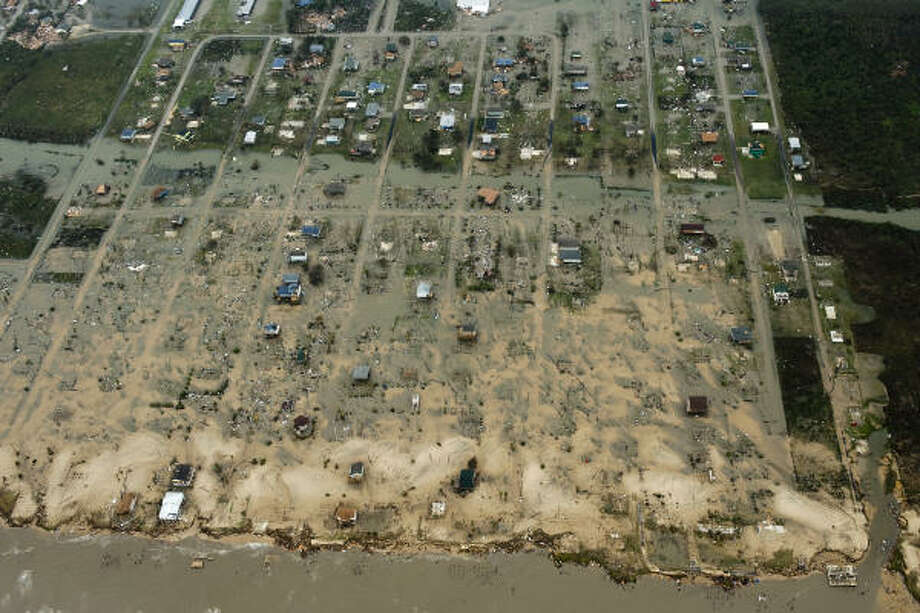 Wiped out | A tableau of devastation left by the hurricane. | Sept. 13 | Crystal Beach Photo: Smiley N. Pool, Chronicle
