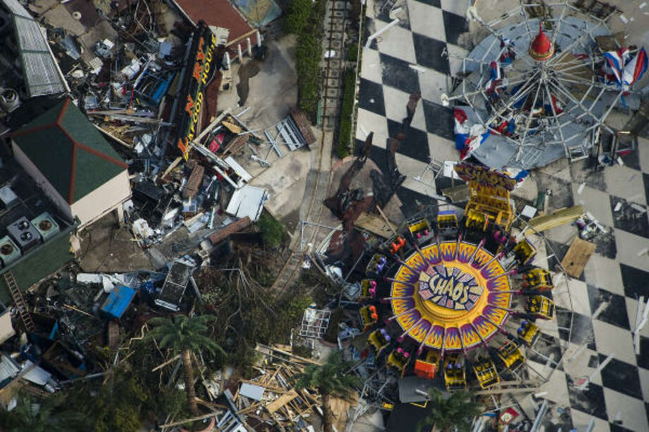 Aptly named   | Amusement rides mingle with debris on the Boardwalk. | Sept. 15 | Kemah Photo: Smiley N. Pool, Houston Chronicle