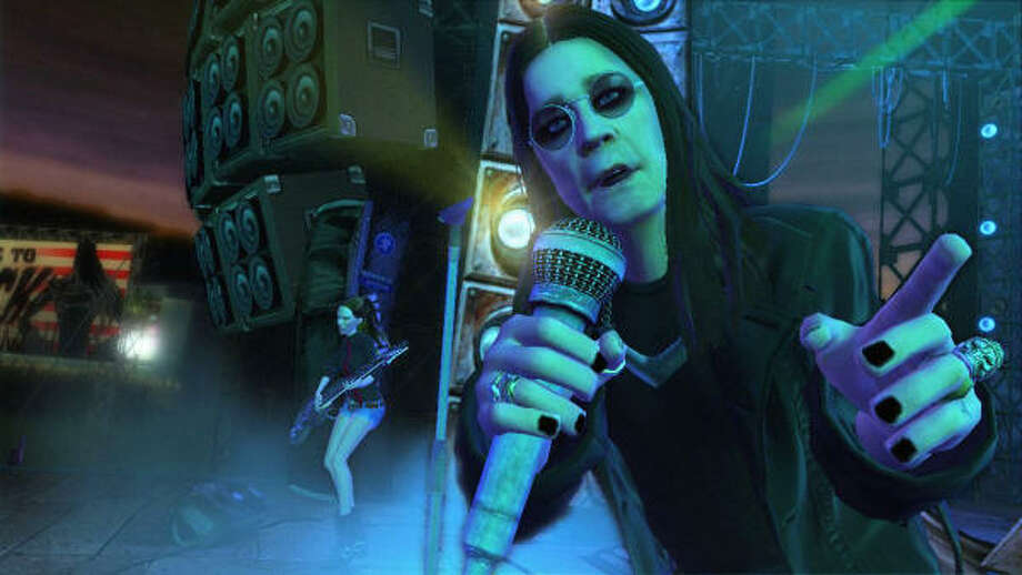Ozzy Osbourne rocks with Crazy Train Photo: Guitar Hero: World Tour