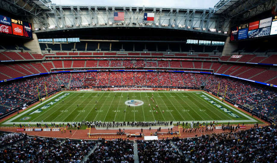 Reliant Stadium hosted the Class 5A state championships for the first time ever. Photo: Smiley N. Pool, Houston Chronicle