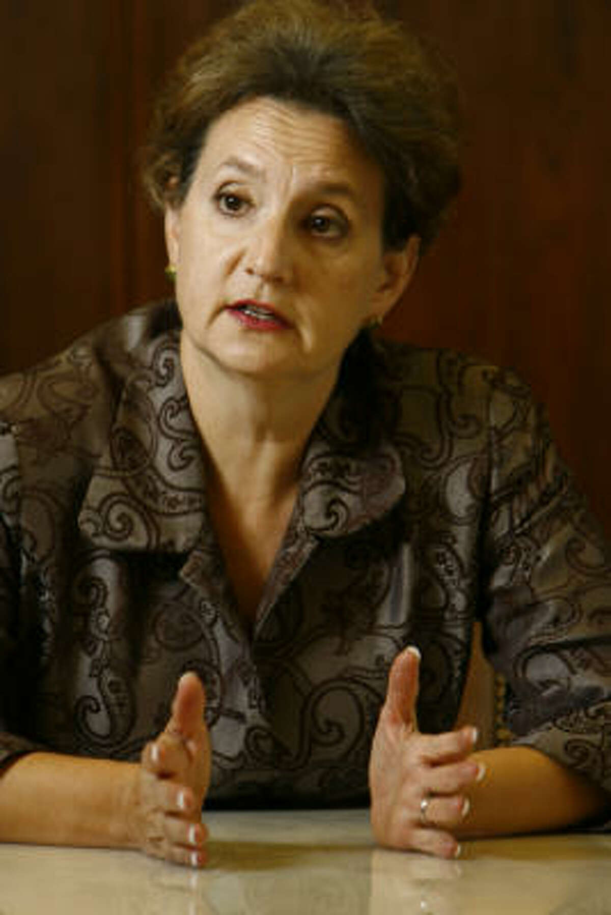 Barbara Ann Radnofsky is uncertain whether she will mount a 2008 bid for the Democratic nomination for the U.S. Senate from Texas.