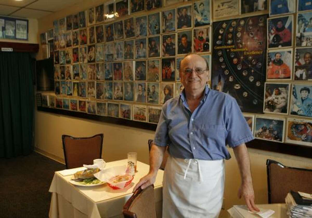 Frankie Camera, owner of Frenchie's Italian Restaurant near the Johnson Space Center, says he's planned and catered banquets for astronauts for years and he's never seen any drink very much.