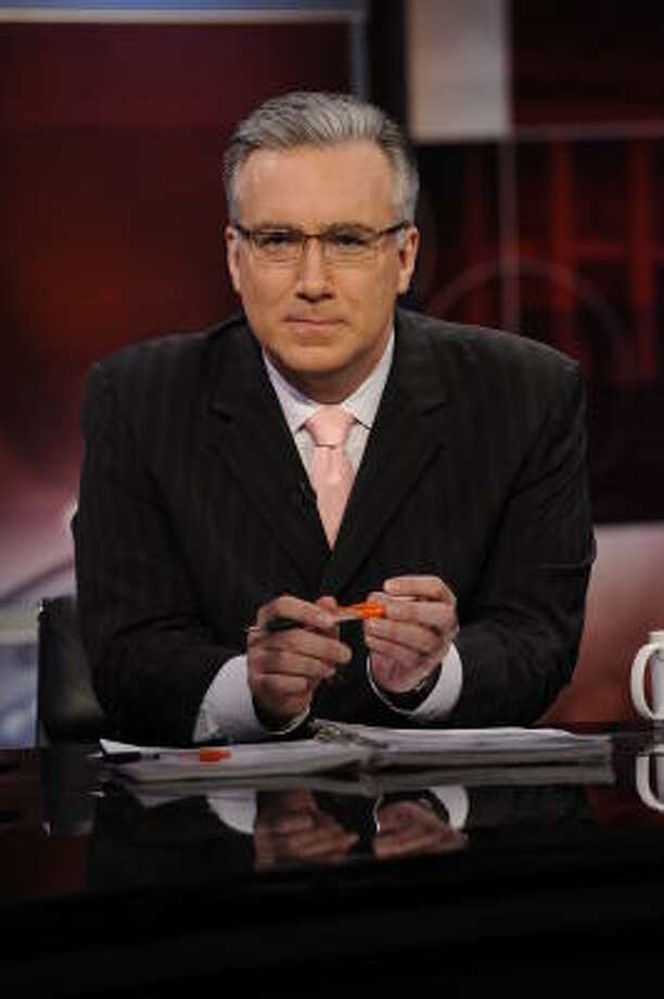 ESPN's Keith Olbermann will not be hosting his show the rest of this week after his Twitter clash with Penn State fans Monday. Photo: Virginia Sherwood, NBC Universal,  Inc.