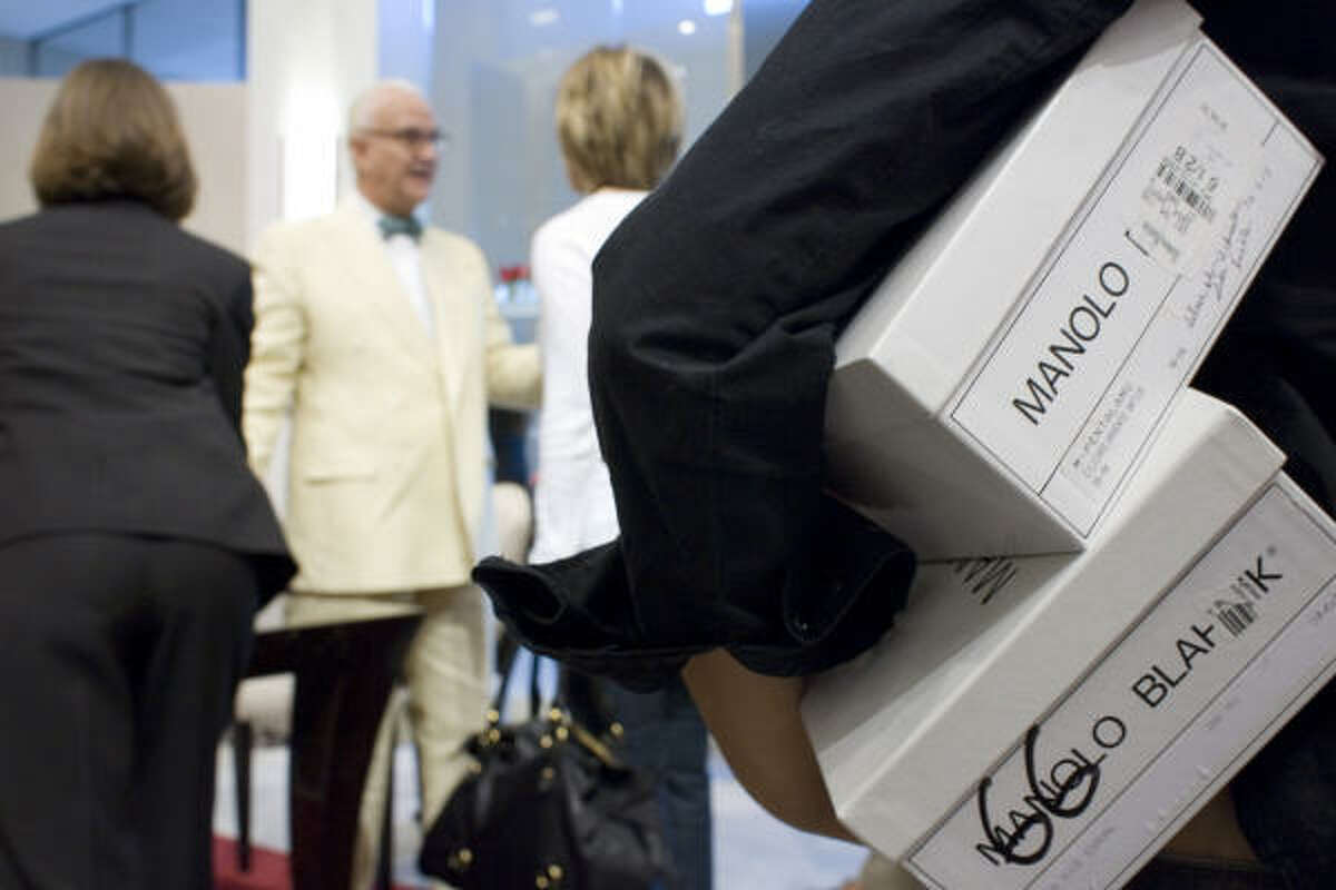 Blahnik proves to be friendly and modest as he greets his fans at Neiman Marcus.