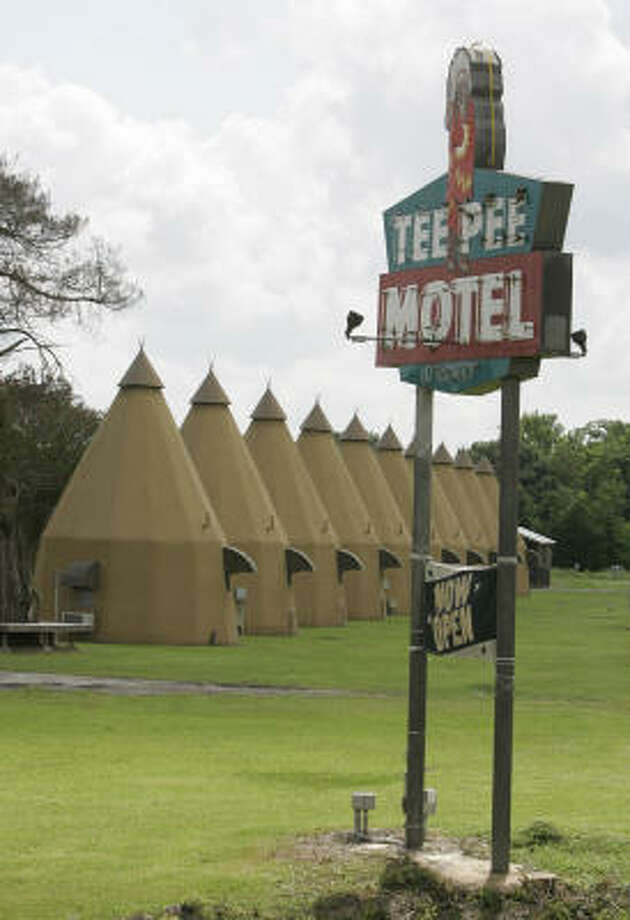 Wharton's Tee Pee Motel is one of only a handful of tepee-themed lodges still operating in the country. Photo: PAT SULLIVAN, AP