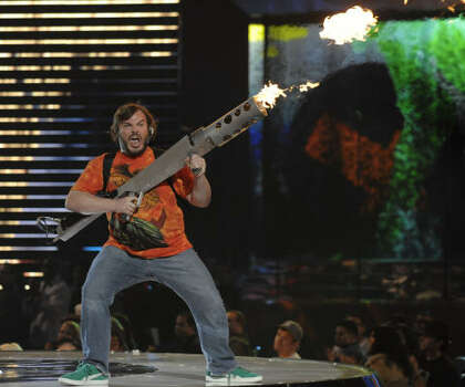 Host Jack Black performs at the show. Photo: Chris Pizzello, AP