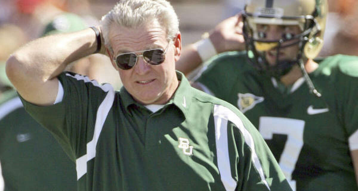 Guy Morriss' Bears haven't won a Big 12 game in 2007. Their three wins have come against Rice, Texas State and Buffalo.
