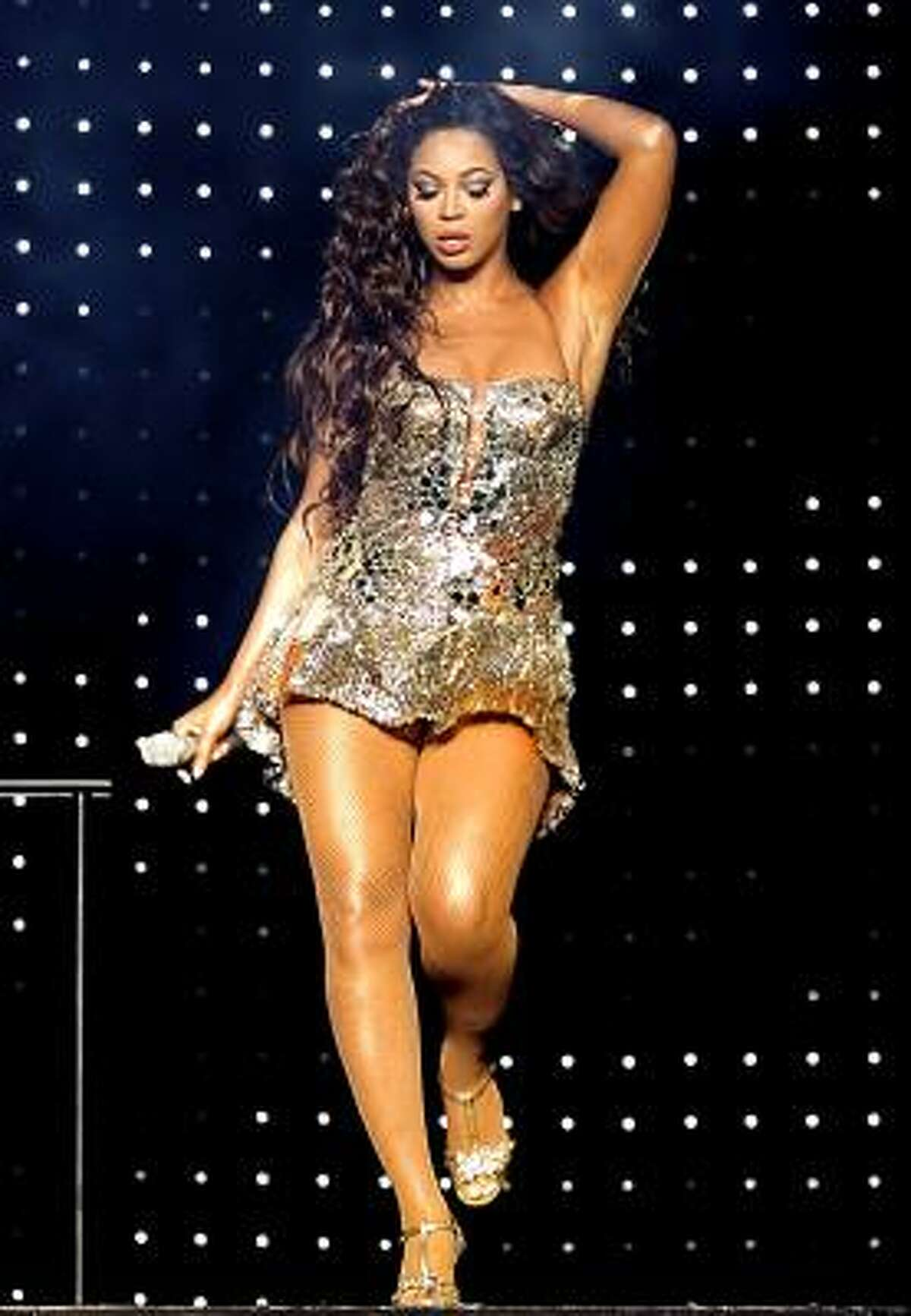 Leaders in Malaysia are worried about Beyoncé's concert attire, like this number she wore during a New York show Aug. 4.