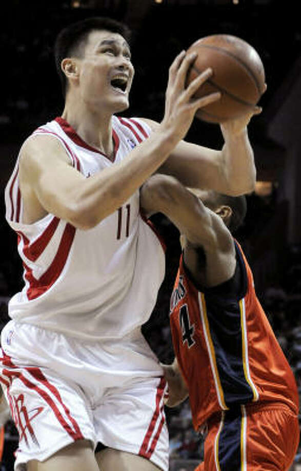 2008-09, Yao Ming, center:Yao currently leads the Rockets in scoring with 19 points per game. Photo: Pat Sullivan, AP
