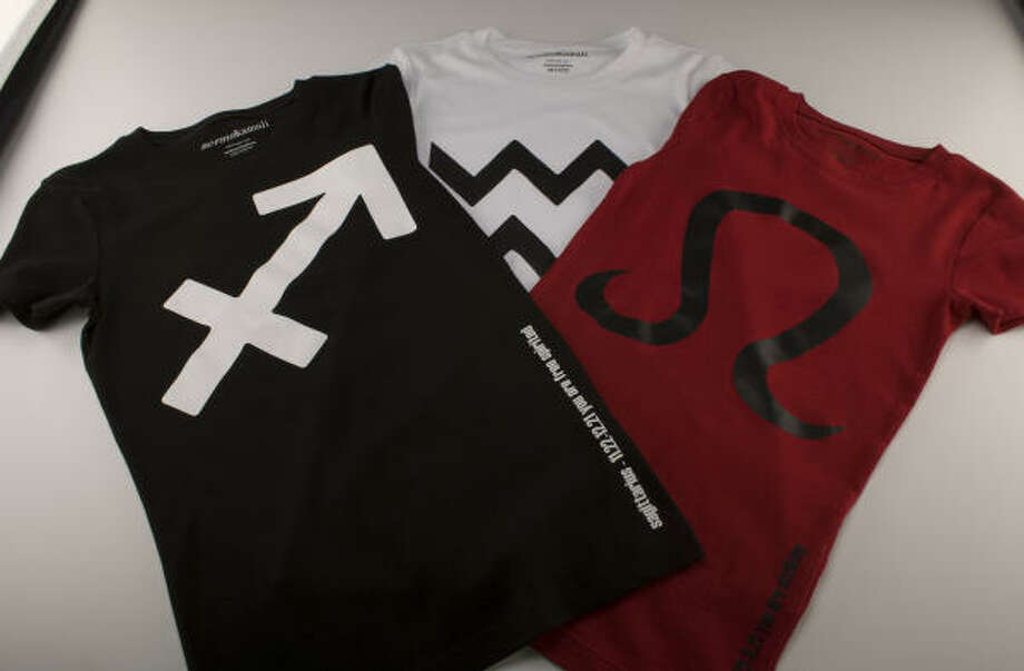 Zodiac T-Shirts by Norma Kamali. Photo: James Nielsen, Chronicle