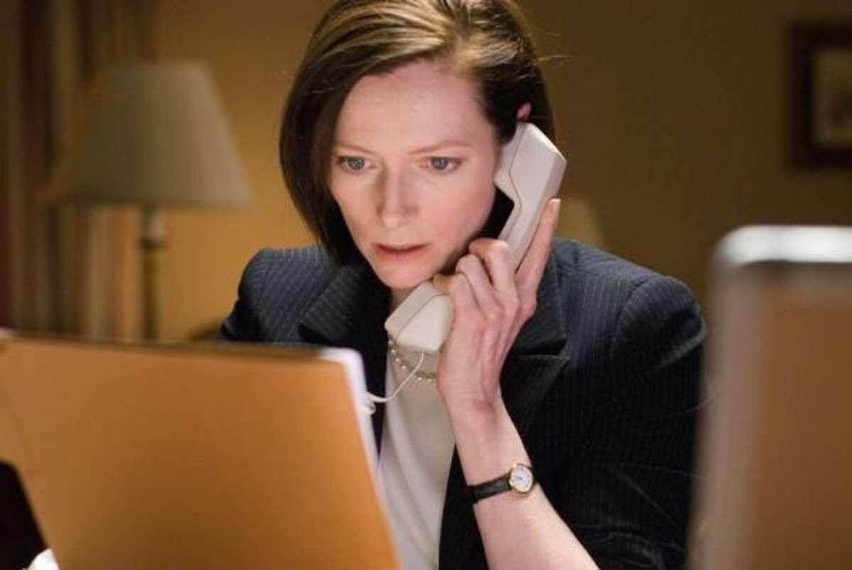 Tilda Swinton stars as Karen Crowder in Warner Bros. Pictures' drama Michael Clayton.