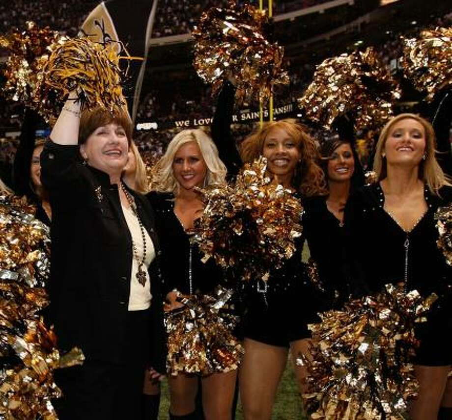 The Saints have Gov. Kathleen Blanco and the rest of Louisiana cheering. Photo: Chris Graythen, Getty Images