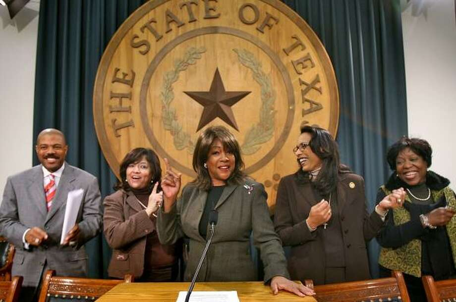 """Former Supreme Mary Wilson, center, voices support for the """"Truth in Music"""" bill Wednesday at the Capitol, along with state Reps. Borris Miles, left, Norma Chavez, Dawnna Dukes and Ruth McClendon. Photo: RODOLFO GONZALEZ, AUSTIN AMERICAN-STATESMAN"""