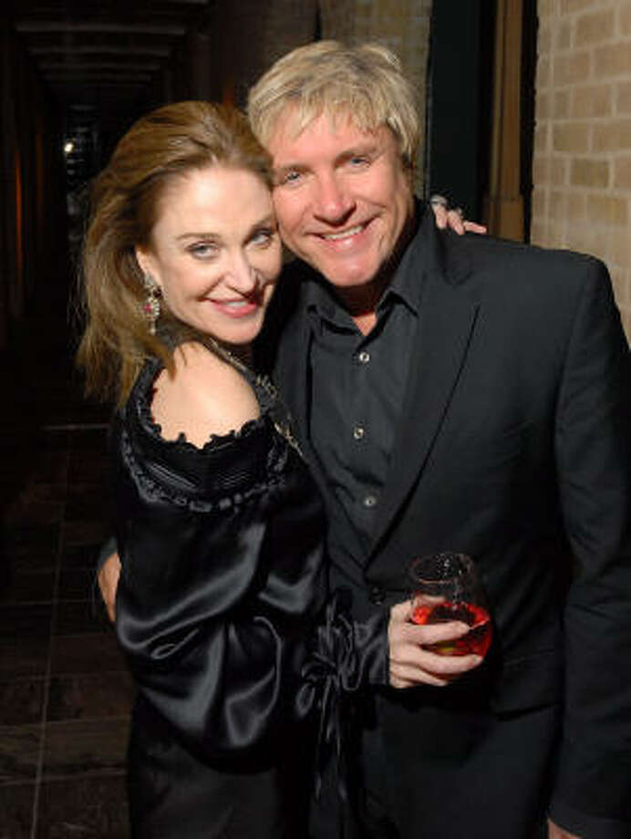 Becca Thrash and Simon LeBon at the Duran Duran concert after party at Thrash's home. Photo: Dave Rossman, For The Chronicle