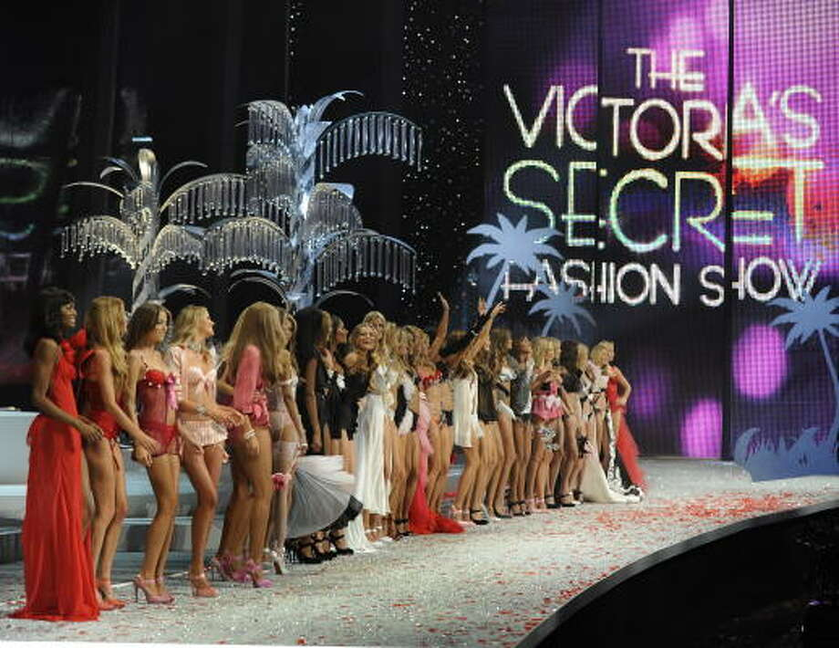 Models present creations during the Victoria's Secret Fashion Show at the Fontainebleau Miami Beach. Photo: TIMOTHY A. CLARY, AFP/Getty Images