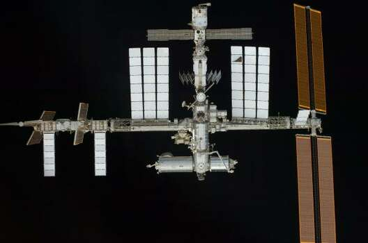The International Space Station is seen from the Endeavour. Photo: NASA, AP