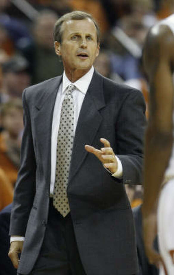 No. 6 Texas  77, Rice 56Pressed by the Owls for the opening 10 minutes, Texas coach Rick Barnes and the Longhorns turned an unexpected first-half boost from Balbay and Ward into a workable margin that yielded a win at the Erwin Center. Photo: Harry Cabluck, AP