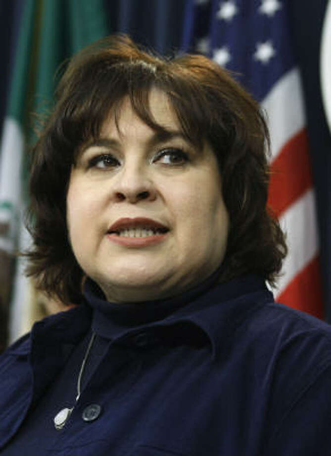 Sen. Leticia Van de Putte, D-San Antonio, was the only Texas senator to vote against a bill that would block Texas Gov. Rick Perry's executive order concerning vaccinating middle-school girls from a sexually-transmitted disease linked to cervical cancer. Photo: Harry Cabluck, AP