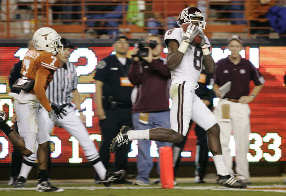 When:Nov. 27. Score: Texas 49, Texas A&M 9. Hero: Wide receiver Jeff Fuller caught five passes for 81 yards and scored the Aggies only touchdown. Record: 4-8. Photo: Brian Bahr, Getty Images