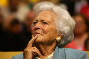 Former first lady Barbara Bush attends the Republican National Convention on Sept. 2, 2008 in St. Paul, Minn.