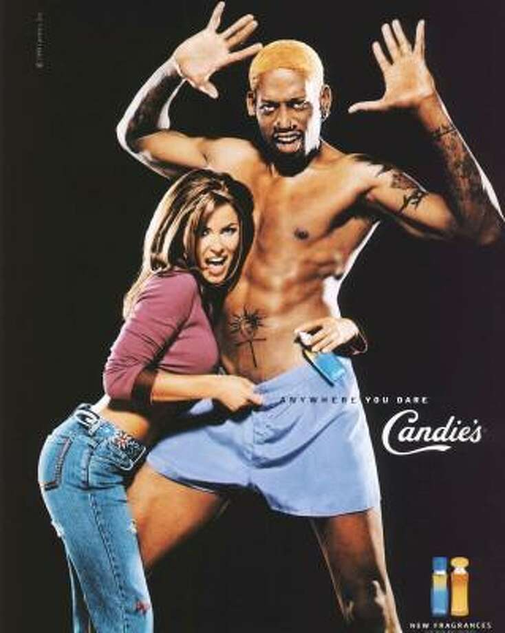 Carmen Electra and Dennis Rodman. The couple married in 1998 and divorced in 1999. Photo: FPS