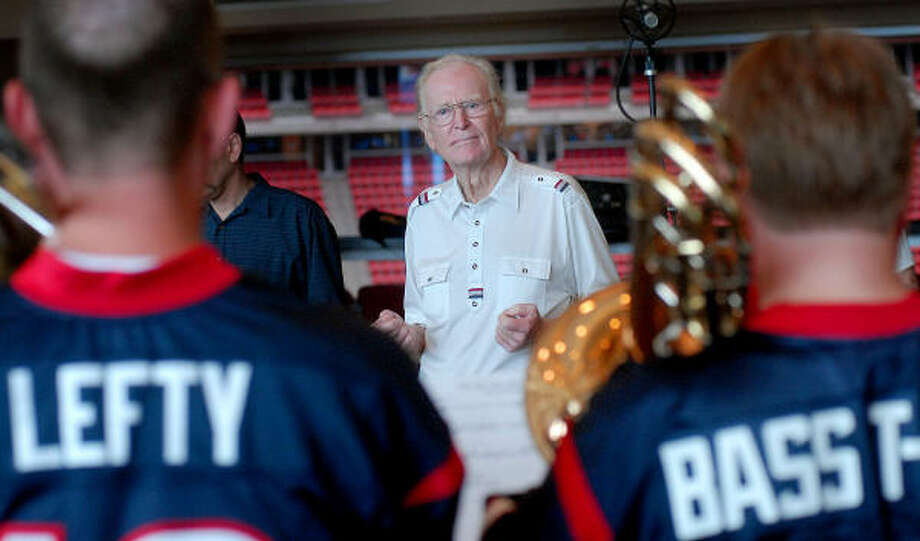 """Sam Spence wrote """"We are the Texans"""" as a fight song for Houston's football team. Photo: Dave Rossman, For The Chronicle"""